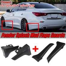 Pare-boue Q50 noir/arrière de voiture   Pare-choc avant/arrière, Protection dangle pour amortisseur garde-boue, Protection dangle pour Infiniti Q50 2014-2017
