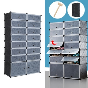 Yonntech 6/8 layers Large Shoes Box Ball Shoes Drawer Storage Boxes Stackable Space Saving Wardrobe Finishing Organizer