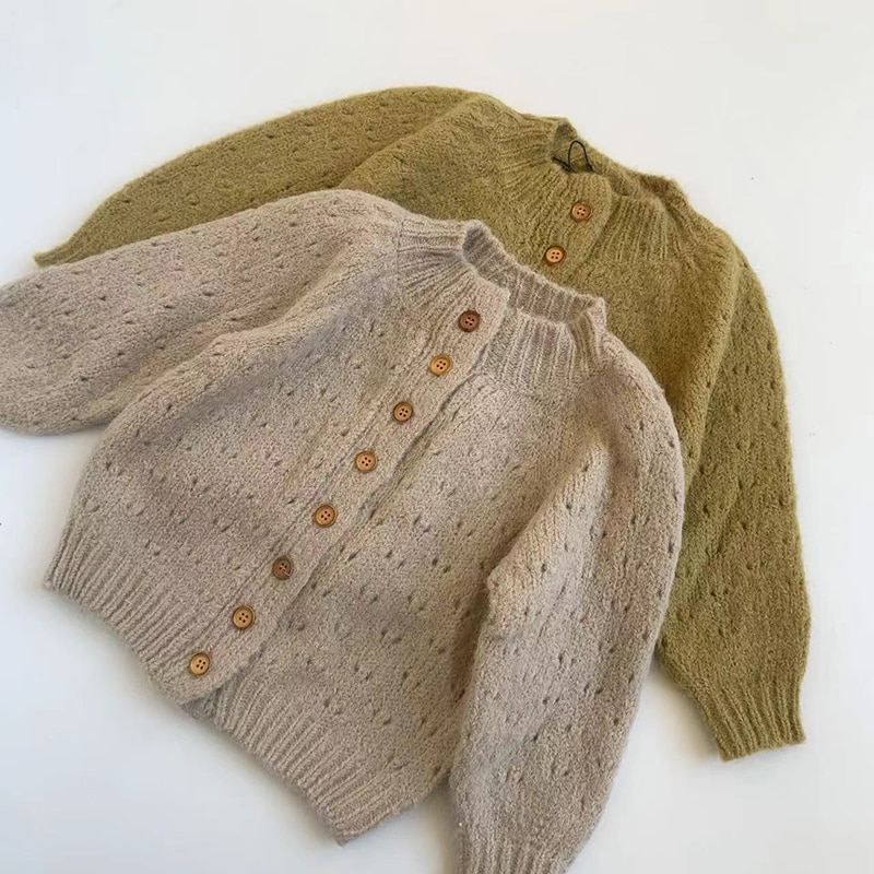 Autumn and Winter Baby Knitted Cardigan Kids jacquard Sweater Baby Boys Girls Jacket Coat Infant Toddler Long-sleeve Knitwear