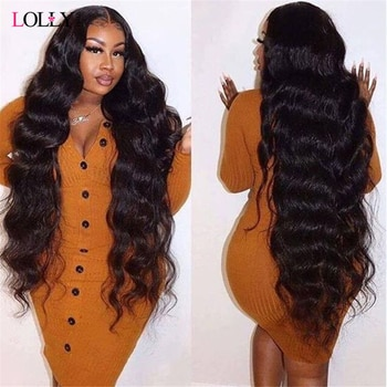 40 Inch Transparent Lace Frontal Wig 30 Inch Body Wave Lace Front Human Hair Wigs Pre Plucked Brazilian Lace Closure Wig Remy