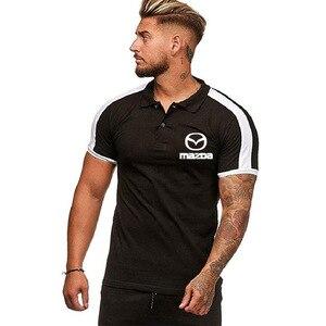 2021 Summer Men's Polo Shirt for Mazda Car Logo casual male solid colour Cotton Tshirt Mens Short Sleeve Fashion Men Clothes