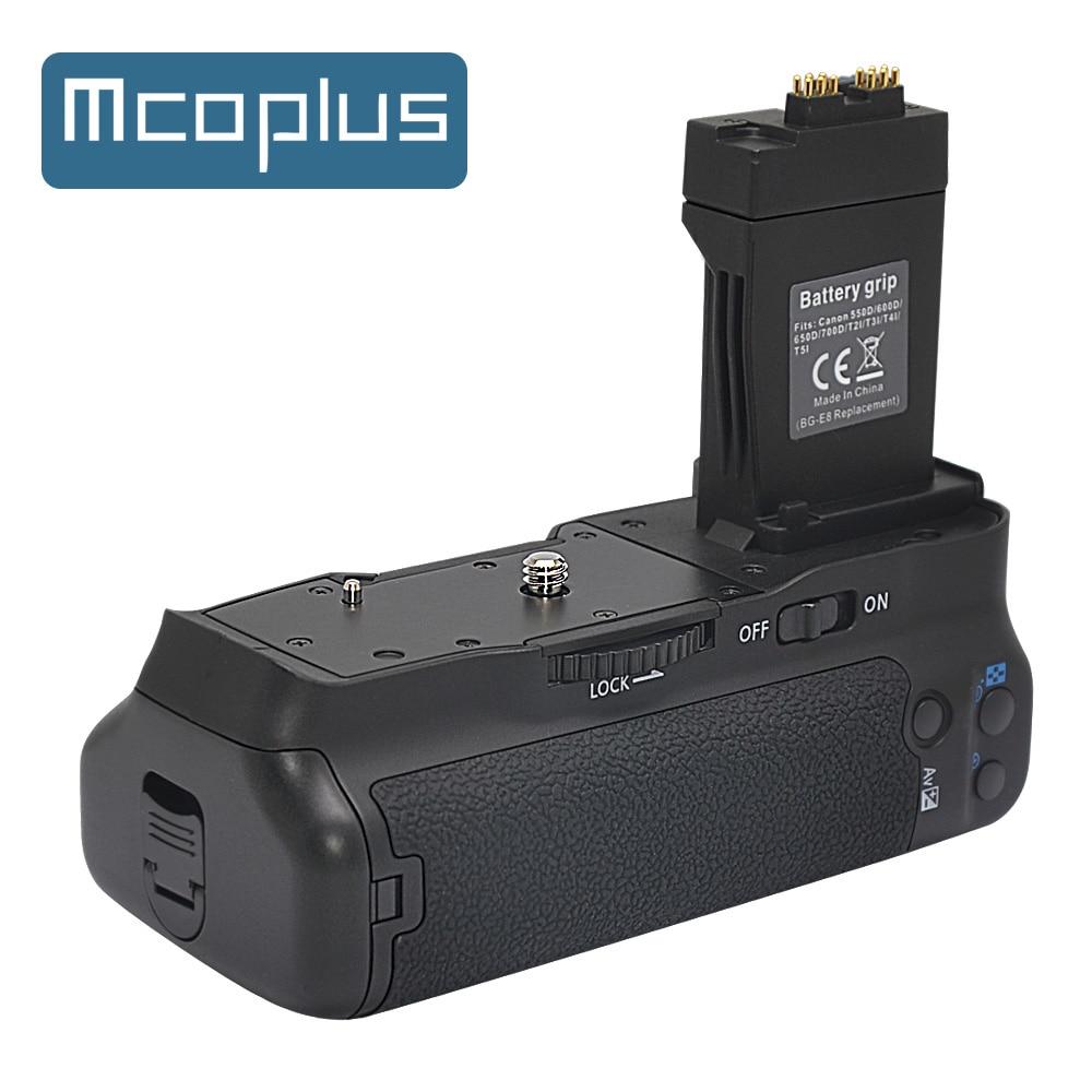 Mcoplus BG-550D Vertical Battery Grip for Canon EOS 550D 600D 650D 700D T2i T3i T4i T5i Camera as BG-E8