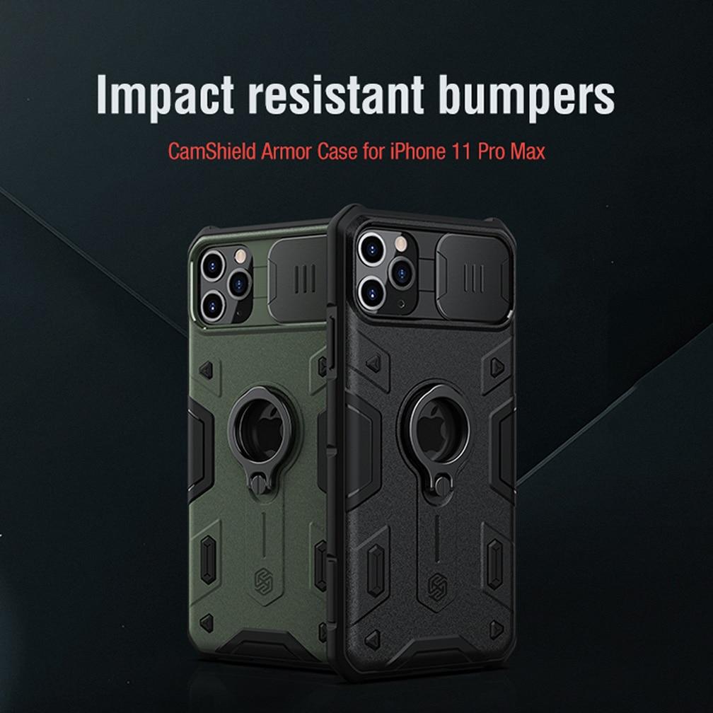 Para iPhone 11 Pro Max caso NILLKIN CamShield armadura caso lente de protección Anti-caída de teléfono caso para iPhone 11 Pro Max