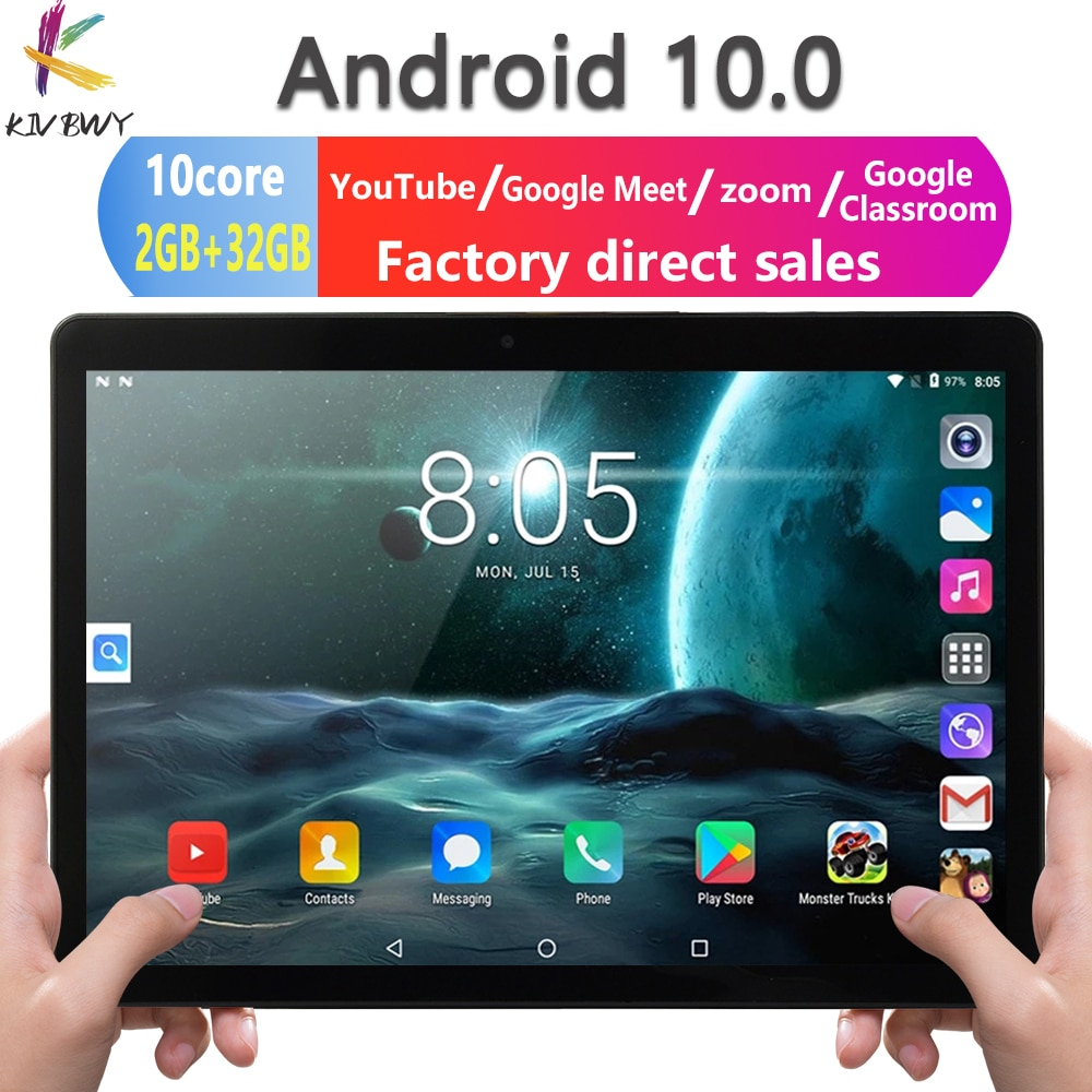 New Upgrade 10 Inch Tablet Pc 10 Core Android 10.0 Google Market 3G 4G LTE Phone Call Dual SIM Dual Cameras FREE Tempered Glass