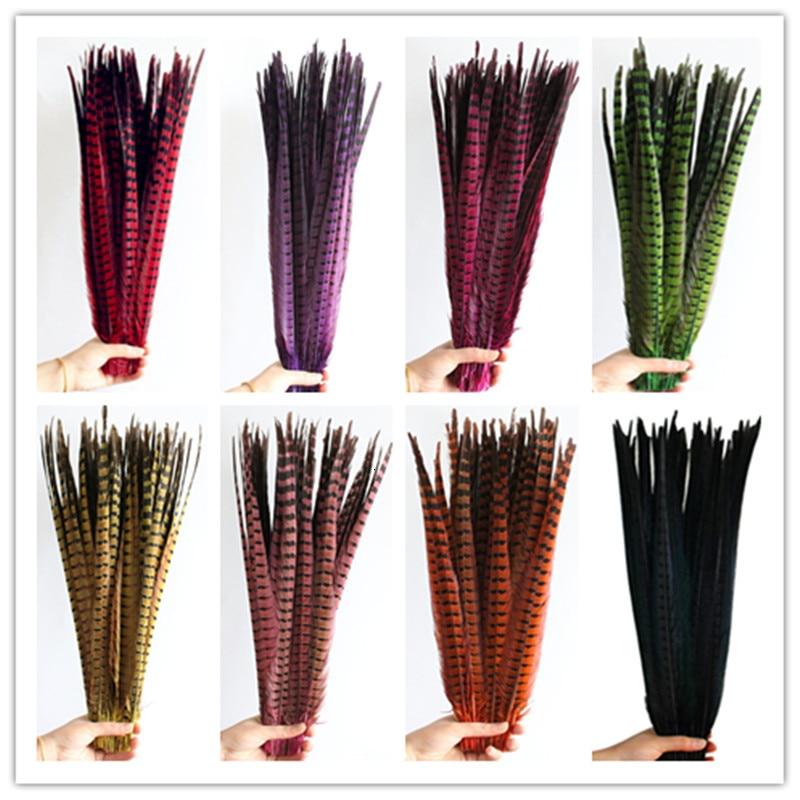 100 unids/lote plumas de faisán Natural para manualidades 40-45CM 16-18 pulgadas decoraciones de boda Faisán de Amherst para mujer pluma de cola plumas