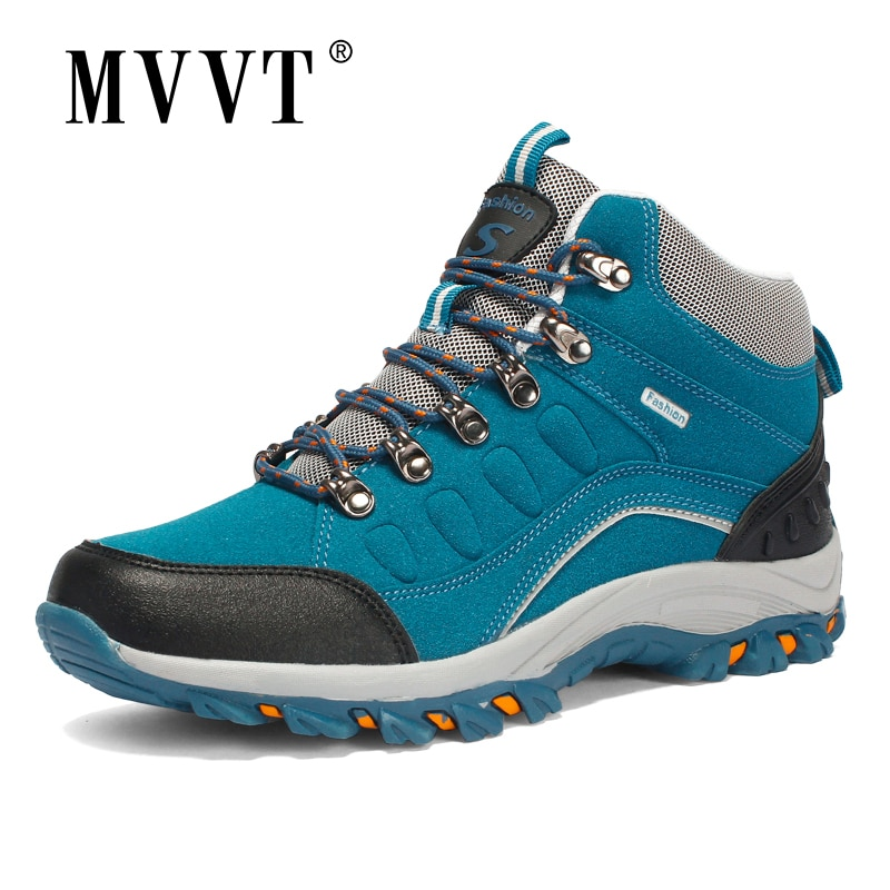 Large Size Women/Men Hiking Shoes For Winter Men/Women Boots With Fur Outdoor Sneakers Warm Unisex