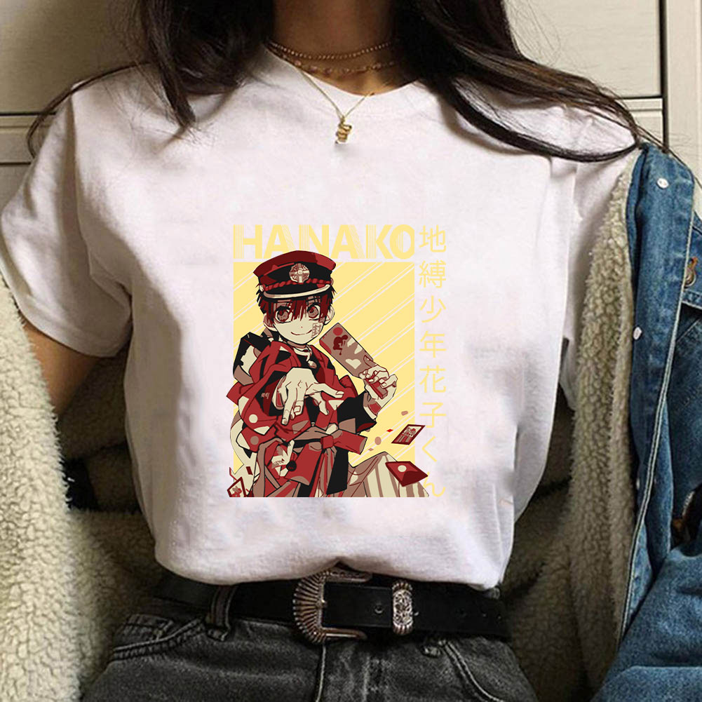 Anime Tees Unisex Toilet-Bound Hanako-Kun Anime T Shirt Short Sleeve Printed Tee