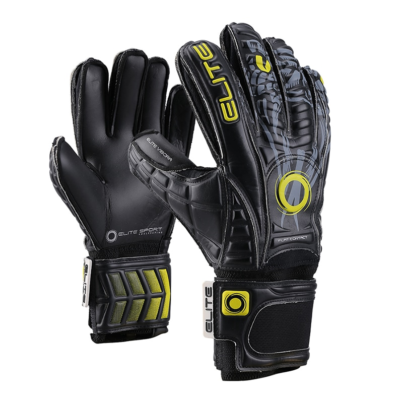Luxury Black Latex Goalkeeper Gloves with Finger Guard Professional Goalkeeper Gloves Finger Protection Size8-10 Football Glove