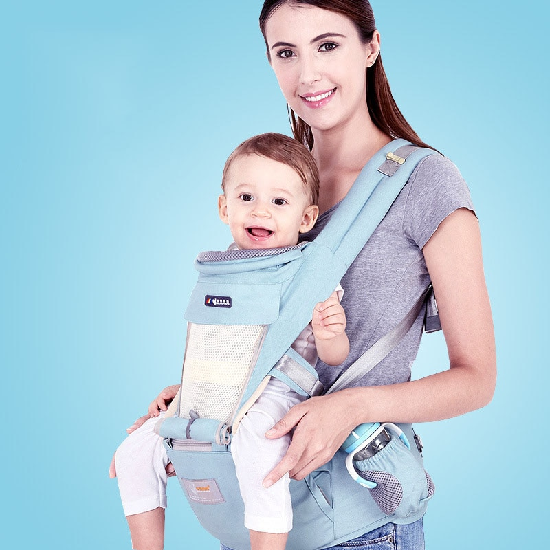 multi function baby sling front hug baby waist stool single stool child holding belt four seasons holding baby artifact Baby Four Seasons Universal Multifunctional Waist Stool Comfortable  Holding Infant Artifact Breathable Soft Baby Carrier