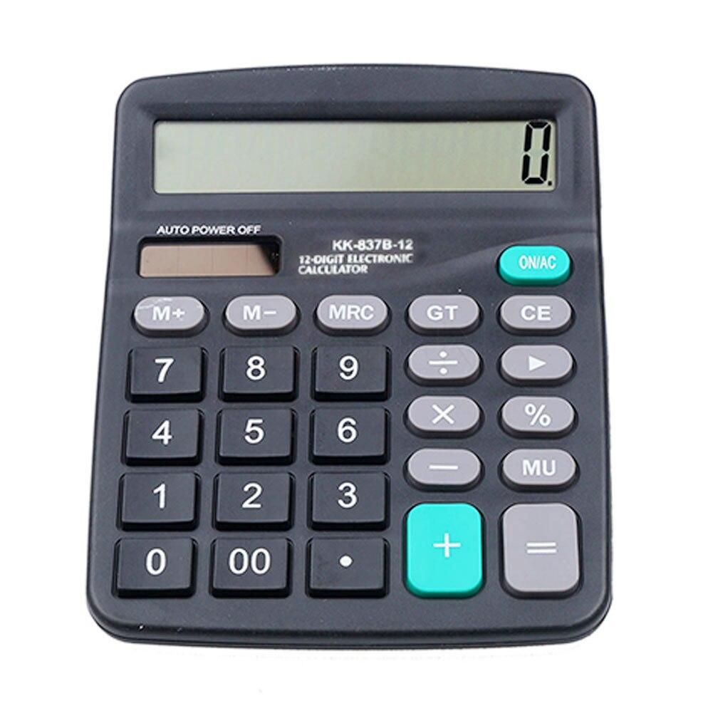 Calculadora electrónica de oficina calcular herramienta comercial con batería de 12 dígitos de cálculo electrónico