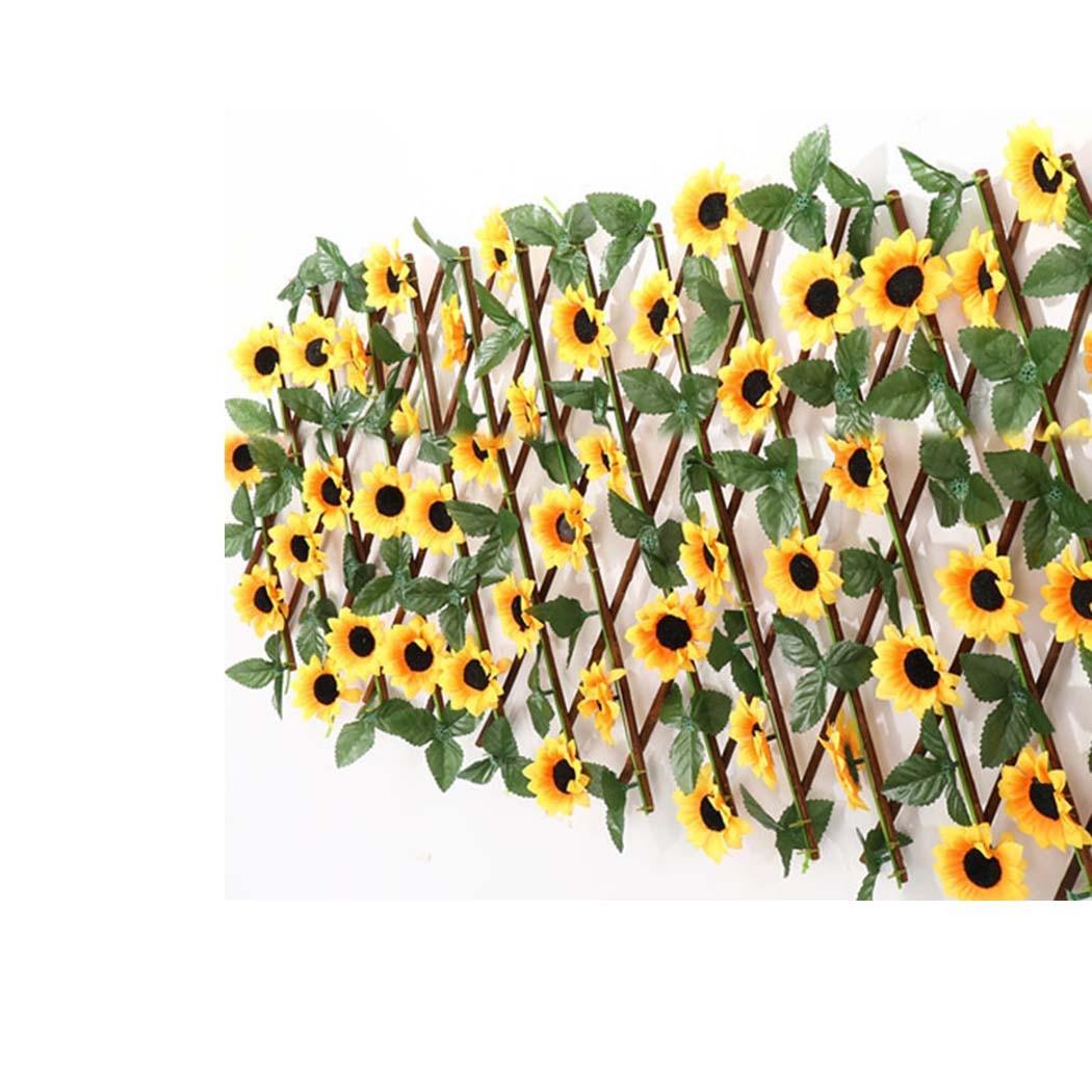جديد تمديد نوع حديقة المباني سياج الاصطناعي الأخضر ورقة فرع Bucolic مولا صافي المطاعم المنزلية الخشبية الجدار الديكور