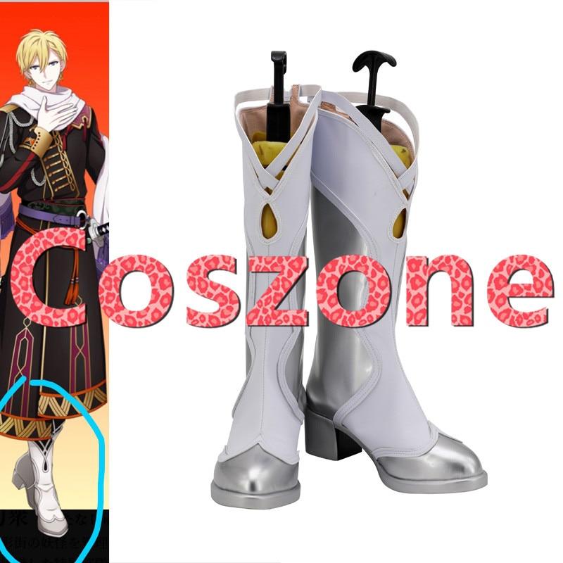 Idolish7 rokuya nagi cosplay sapatos botas halloween carnaval traje acessórios