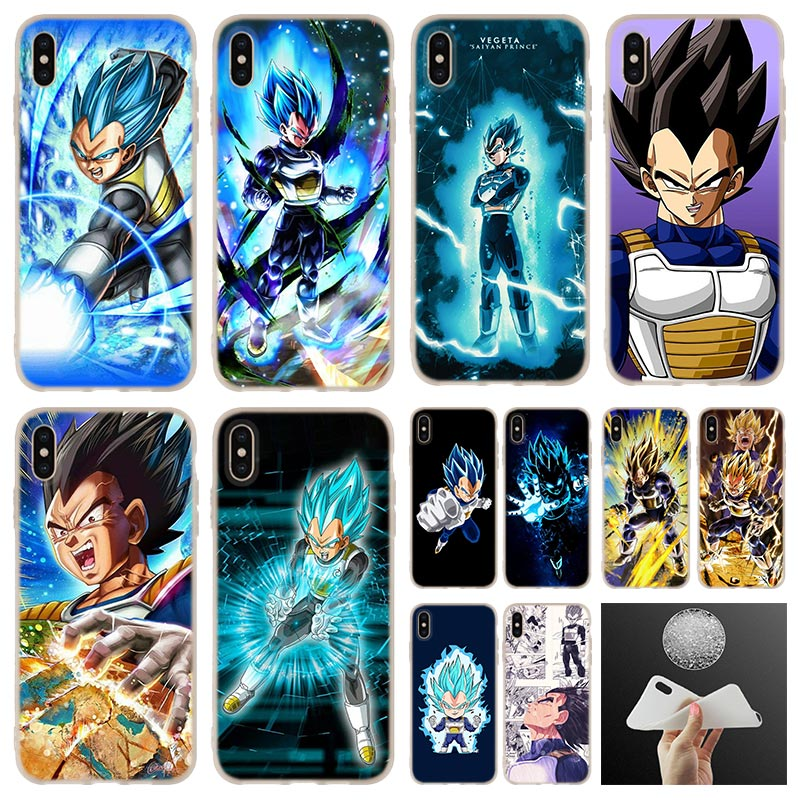 Silicone Soft Cover Cases For iPhone 12 11 X XS Max XR 6 6s 7 8 Plus 5 SE 2020 Mini Vegeta