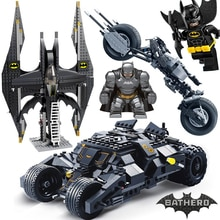 7105 7116 Comaptible Lepinblock Batman Tumbler Filme Dollss Batpod Batmobil Set Bausteine Kinder Spielzeug Technik Ziegel
