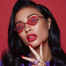 XaYbZc Sexy Red Lips Sunglasses 2021 Hippie Vintage sun galsses for Women Festival Rave Party Sun Gl