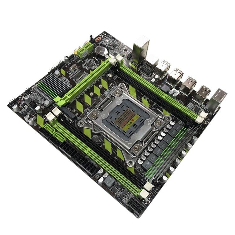 X79G اللوحة LGA 2011 دبوس M.2 واجهة تدعم DDE3 RECC ذاكرة E5 2689 كمبيوتر مكتبي اللوحة الأم