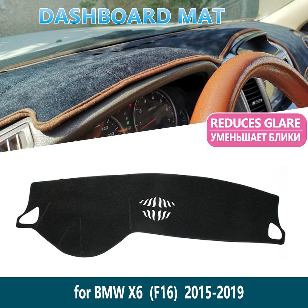 for BMW X6 F16 2015 2016 2017 2018 2019 Anti-Slip Dashboard Mat Cover Inner Sun Shade Dash board Car Accessories