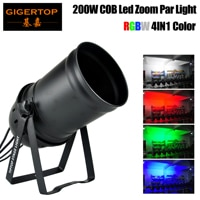 TIPTOP RGBW 4IN1 Color COB Zoom Led Par Light DJ Light Cannon Zoom Cans 64 LED Stage Lighting uplight- DMX 512 Controlled