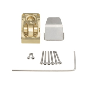 Brass Diff Cover Counterweight Cover with Guard Plate for 1/24 Axial SCX24 90081 RC Car Accessories Made of High Brass quality