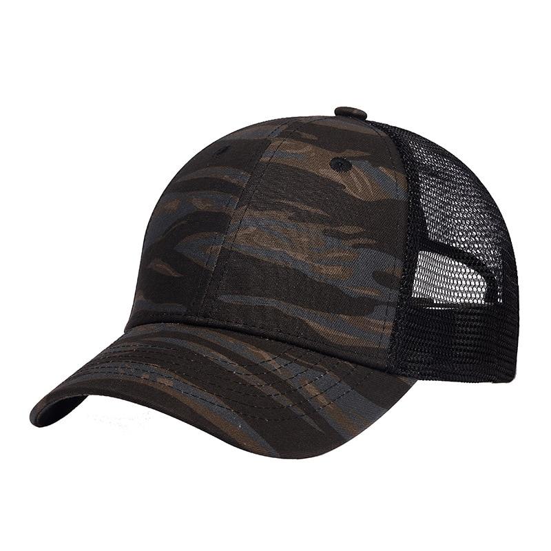 Camouflage Baseball Cap Men Summer Trucker Hat Women Fashion Mesh Snapback Breathable Skateboard Hip Hop High Quality