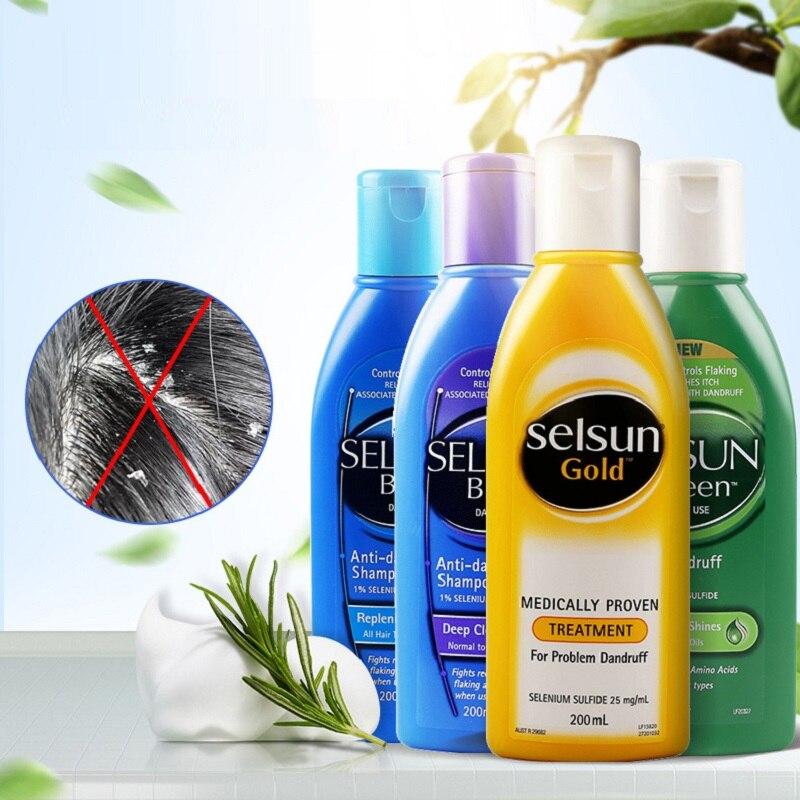 Selsun-champú de oro con aminoácido, tratamiento de sulfuro de Selenium, problemas suaves...