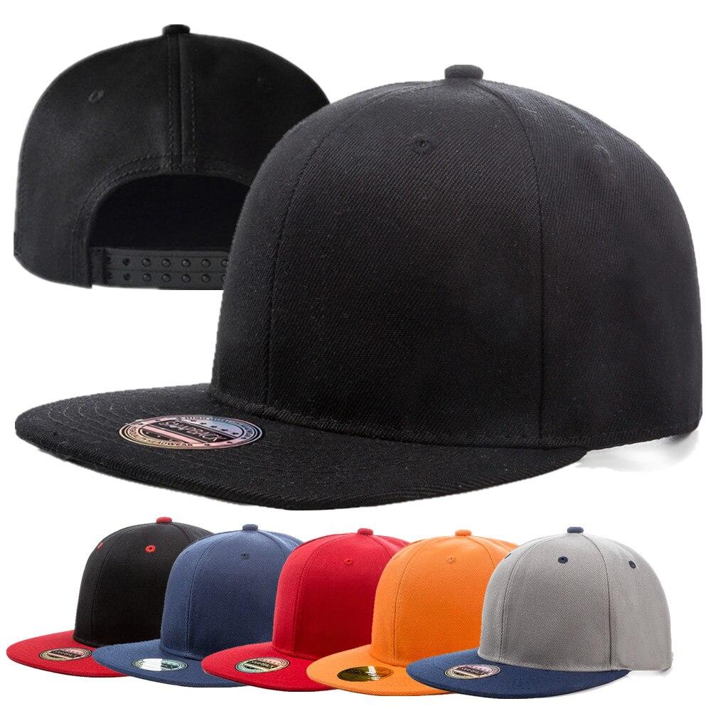 1pcs Unisex Cap Acrylic Plain Snapback Hat High Quality Adult Hip Hop Baseball Cap Men Women Outdoor Leisure Baseball Flat Hat
