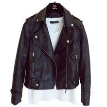 Deri ceket kadın PU deri ceket siyah ceket rahat yeni Grunge kısa kadın ceket Fit günlük Streetwear moda dış giyim ZX-1