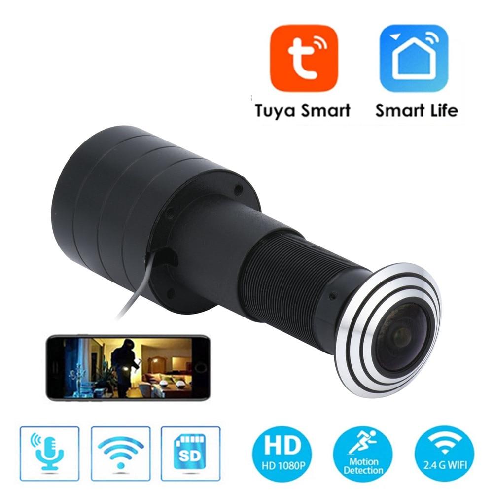 Door Eye Hole Home Security Camera 1080P HD 1.6mm Lens Wide Angle FishEye CCTV Network Mini Peephole Door WifI Camera P2P ONVIF enlarge