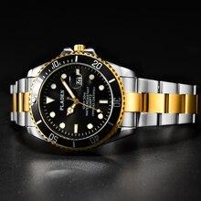 PLADEN Top Brand Men's Luxury Watch Sapphire Glass Full Steel Analog Luminous Watch Sports Casual Fa