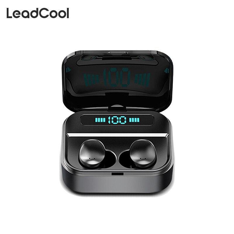 Auriculares TWS auriculares inalámbricos deportivos con Control táctil auriculares con pantalla Led auriculares Bluetooth con cancelación de ruido en la oreja