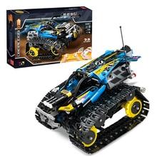 391 pièces technics cascadeur racer blocs de construction legoinstly technics 42095 42065 bleu ABS télécommande voiture briques ajustement jouets cadeaux