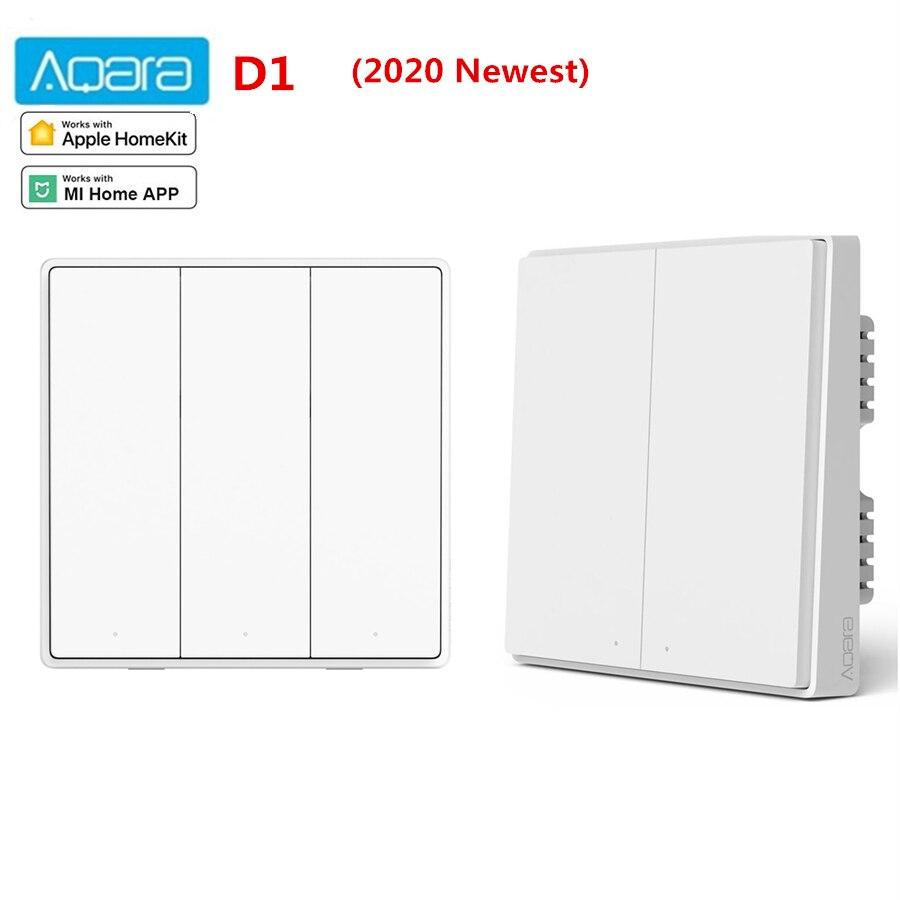 Aqara Smart Wall Switch D1 Zigbee Wireless Key Remote Control Light Switch Neutral Fire Wire Triple button For Xiaomi home