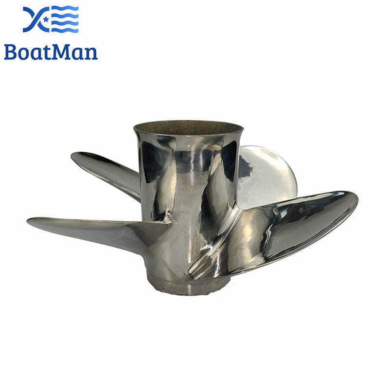 Outboard Propeller 11 5/8x12 For Suzuki Engine 35-65 HP Stainless Steel 13 Tooth splines Outlet Boat Parts 4 Blade enlarge