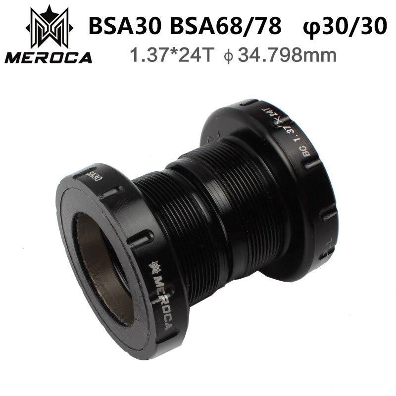 Meroca mtb mountain bike bsa30 bb68 rosqueado suporte inferior 68/35mm turn bb30/pf30/386 roda dentada eixo central