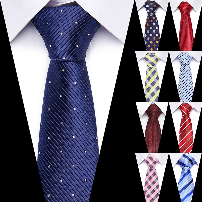 Wedding Mens Striped Plaid Pattern Business 100% Silk Tie Necktie for Men Luxury Jacquard Ties Accessories Mens classic ties недорого