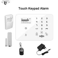 Systeme dalarme sans fil GSM 3G   Pour systeme de securite domestique  clavier tactile  cambrioleur avec capteur de mouvement PIR detecteur de porte K9