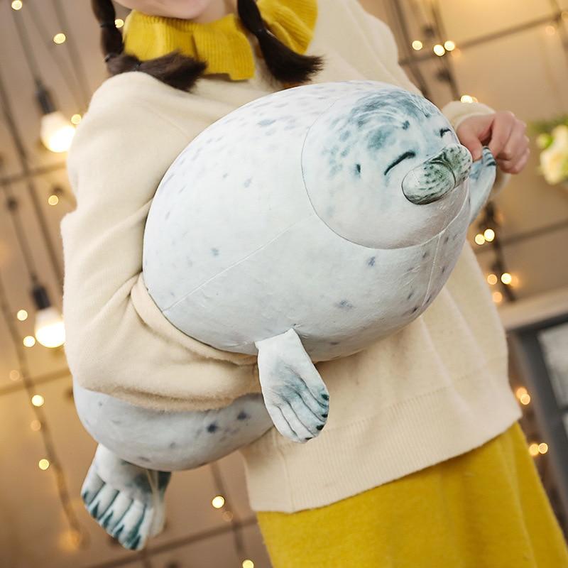 1pc 60CM 3D Schöne Dichtung Plüsch Kissen Puppen Angefüllte Weiche Tier Meer Lion Puppen für Kinder Kinder Geburtstag valentinstag Geschenke