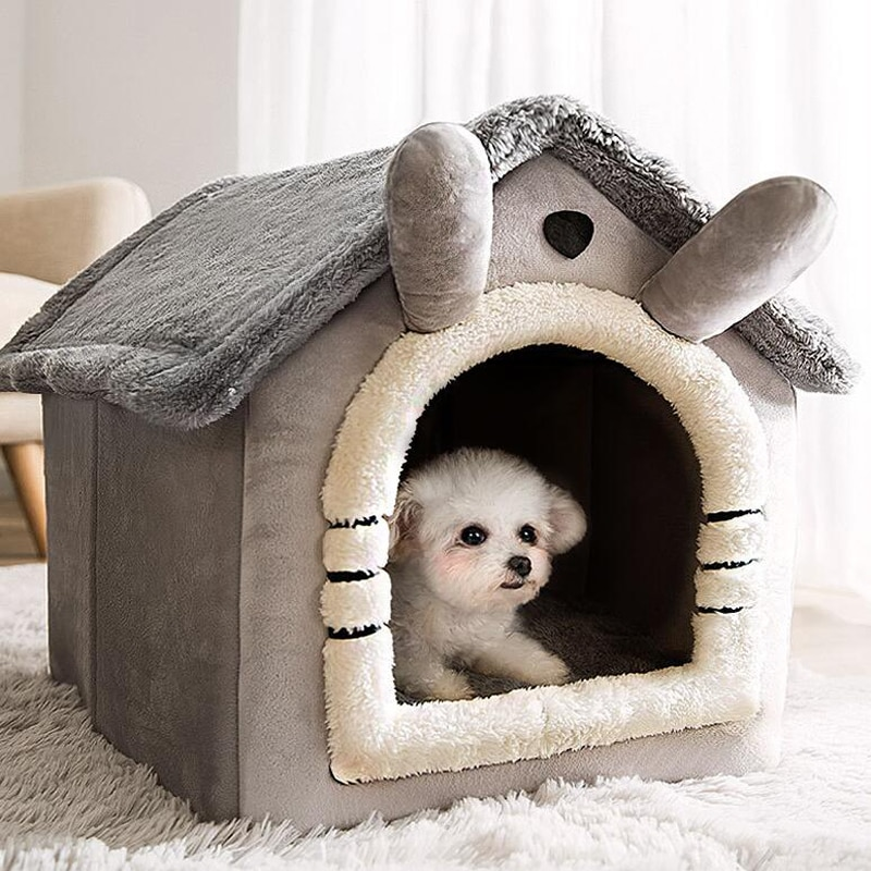 Casa para gatos de accesorios para mascotas de cama para perro... lavable...