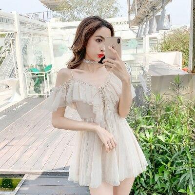 Sexy adorable Vestido de lolita vintage cuello pico falbala malla vendaje victoriano vestido kawaii chica gótica lolita op loli cos