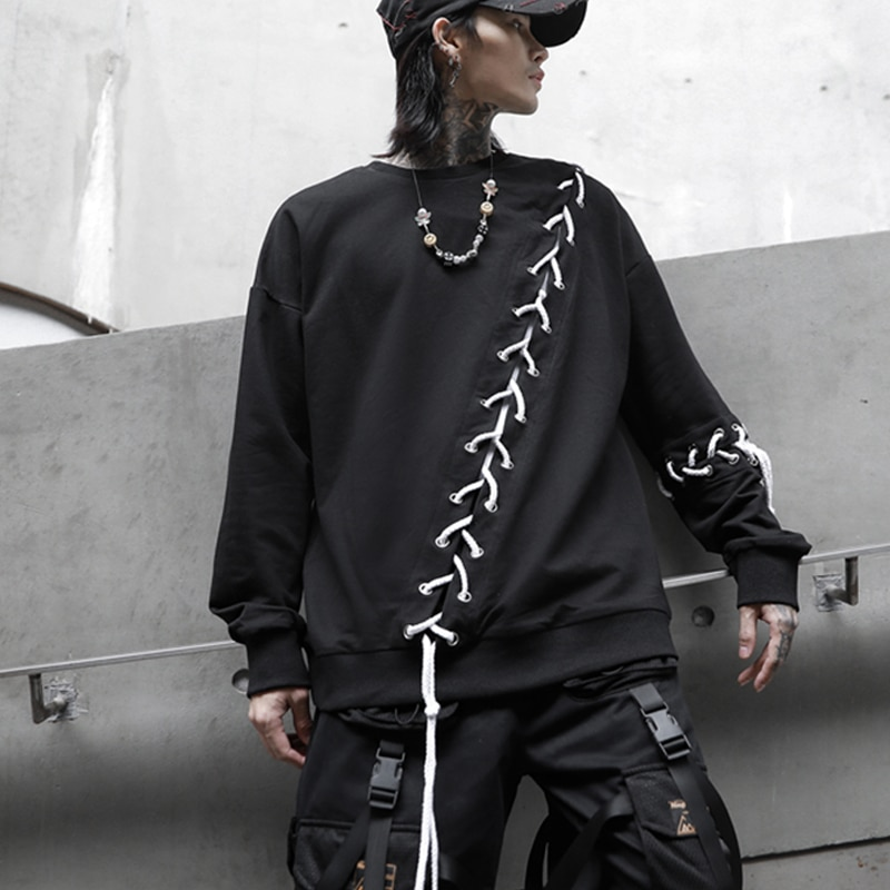 2020 Новое поступление эстерн БФ Харадзюку модная уличная лента мужские черные свитшоты трек хип-хоп повседневная спортивная одежда уличная ...