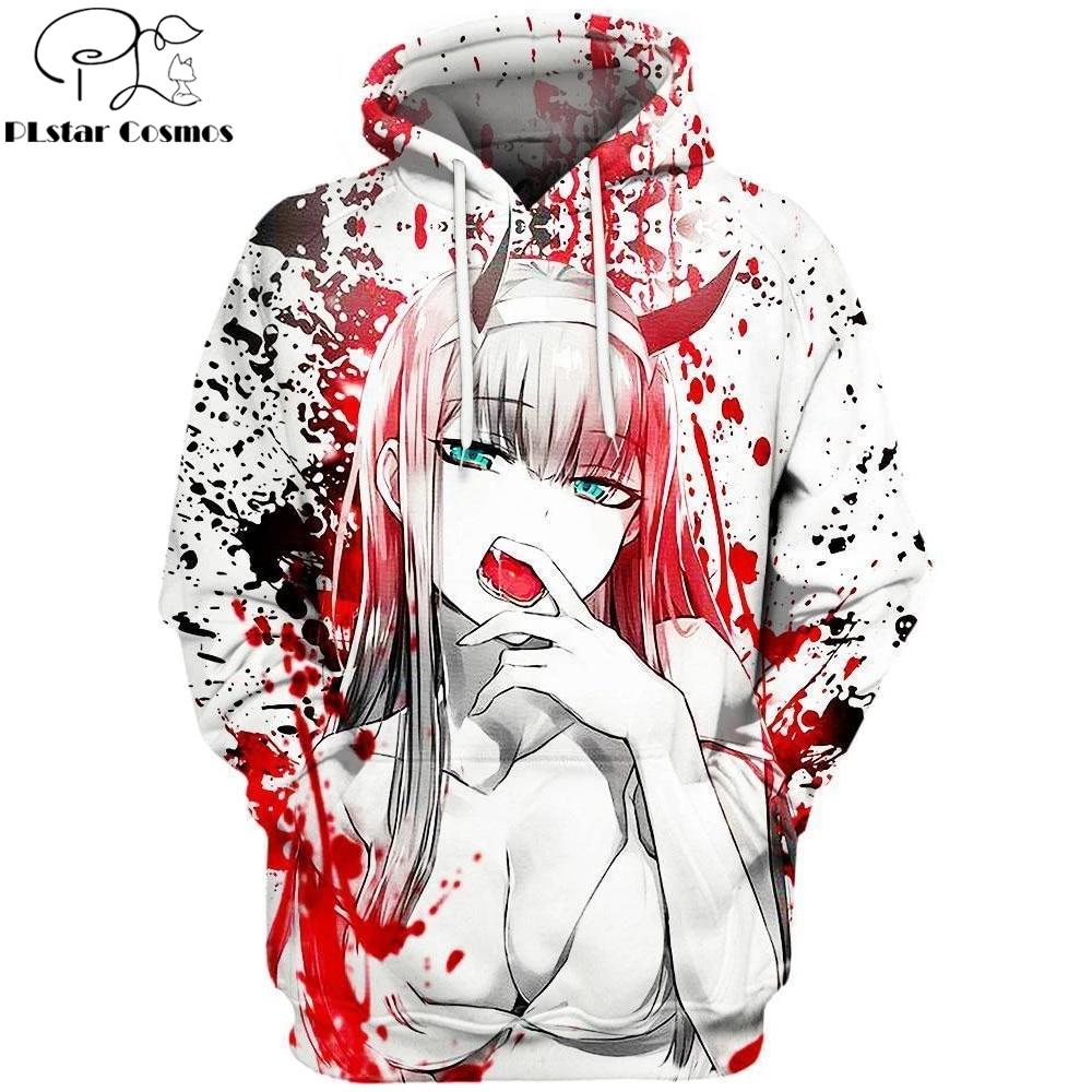 2019 New 3D Fashion Hoodies Anime DARLING in the FRANXX Full Printed Pullover / Hoodie Sweatshirt Unisex Casual Streetwear