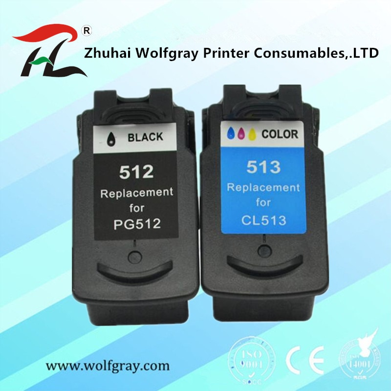 PG512 CL513 Catridge متوافق لكانون pg 512 cl 513 خرطوشة الحبر Pixma mp230 mp250 MP240 MP270 MP480 IP2700 طابعة