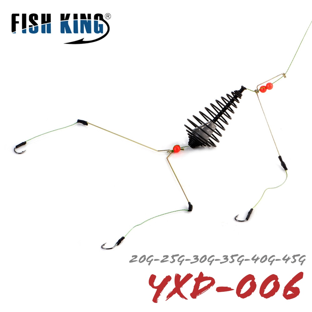 Рыболовный крючок FISH KING, искусственная приманка, приманка, набор для клетки, кормушка для рыбалки, приманка для ловли карпа, рыболовные снасти