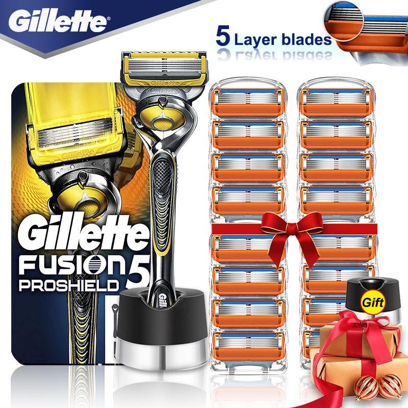 Navalha de Barbear Cassetes com Lâminas Case para Homem Titular para Urso Gillette Fusion Proshield Segurança Rosto Shaver Shavette 5