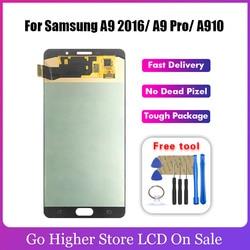 Amoled/tft para samsung galaxy a9 pro 2016 a910 a9100 a910f SM-A9100 display lcd de tela toque digitador assembléia substituição