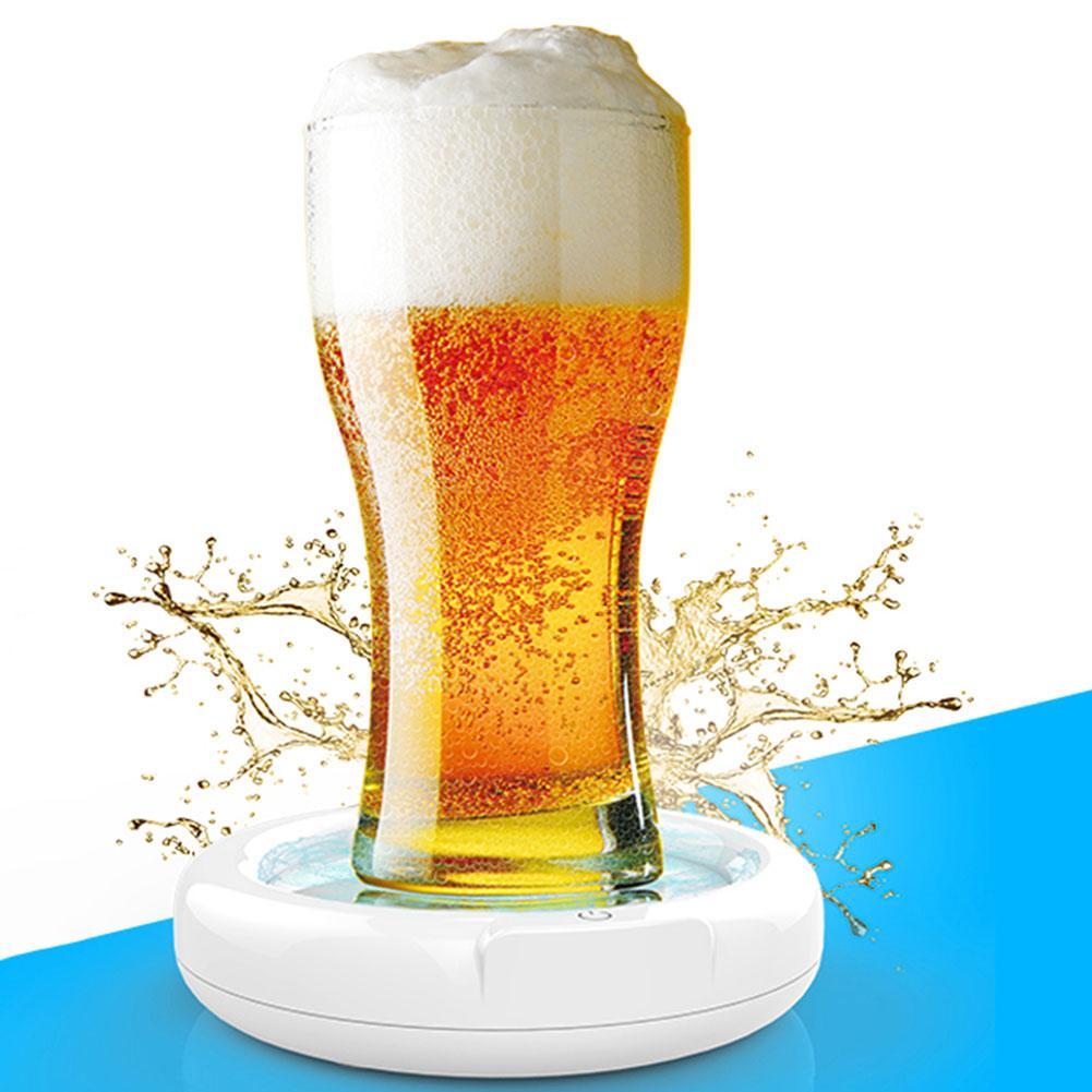 Máquina de espuma súper sónica para el hogar con burbujas de cerveza, fabricante portátil de espuma de cerveza, vaporizador sónico para hielo, cerveza, Camping, cerveza