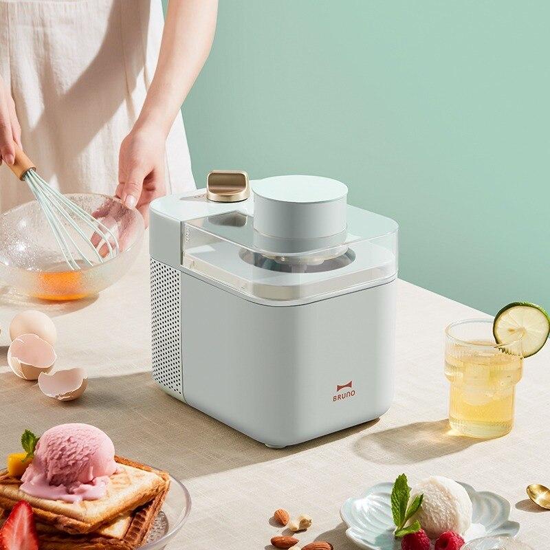 آلة الآيس كريم 220 فولت 500 مللي الرئيسية الصغيرة محلية الصنع صغيرة الفاكهة الآيس كريم مخروط صناع BZK-B01