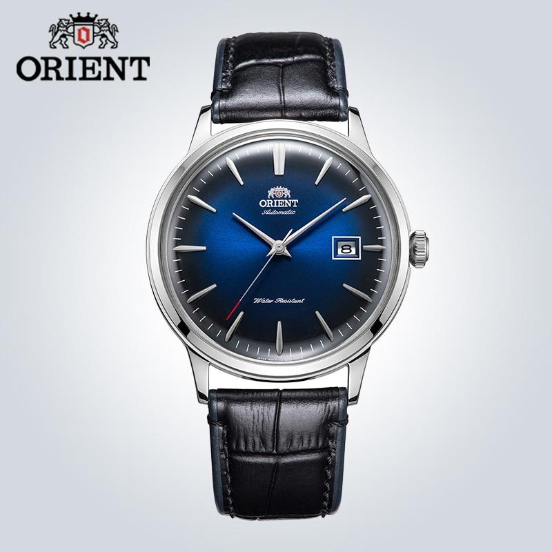 Orient relógio masculino marca original automático relógio mecânico simples moda retro couro masculino relógio de pulso