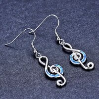 fashion new hot style accessories musical note earrings earrings female earrings earrings jewellery