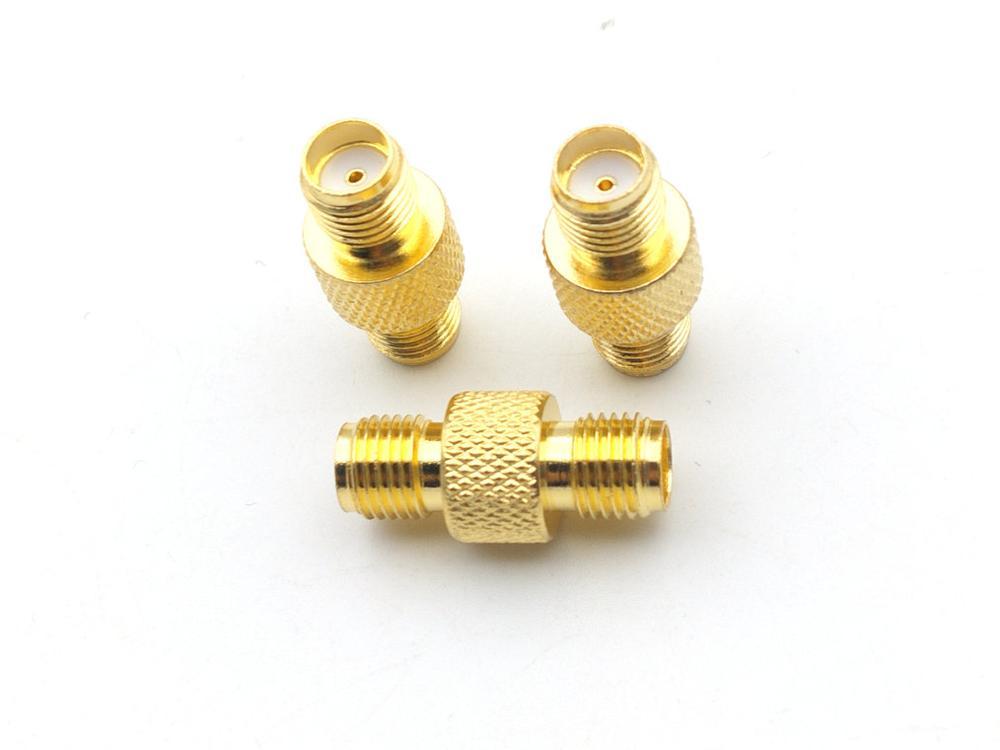 100 قطعة مطلية بالذهب SMA أنثى إلى أنثى مستقيم RF محول موصل